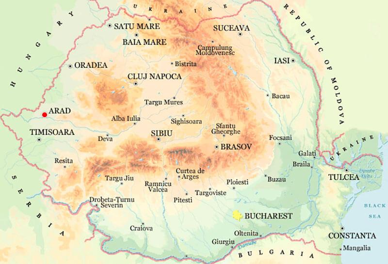 Harta Arad Strazi Harta Romaniei