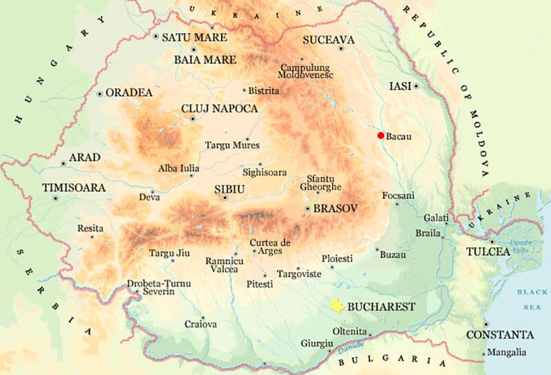 Harta Bacau Strazi Harta Romaniei