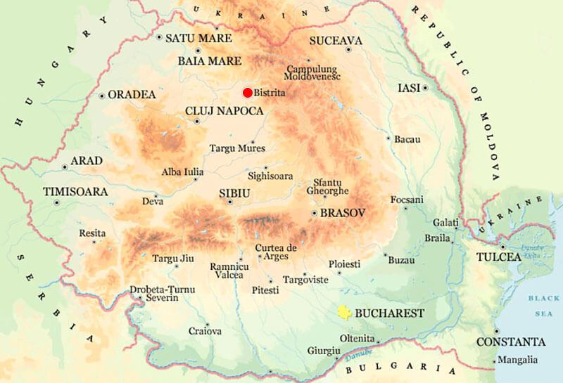 Harta Bistrita Strazi Harta Romaniei