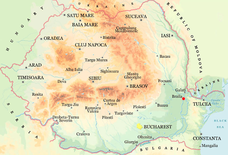 Harta Braila Strazi Harta Romaniei