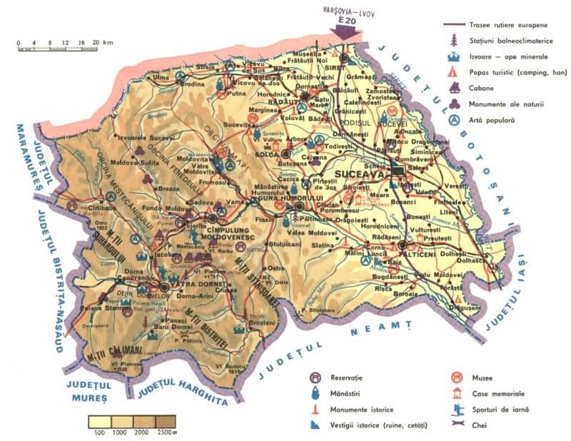 Harta Bucovina Ghid Harta Romaniei
