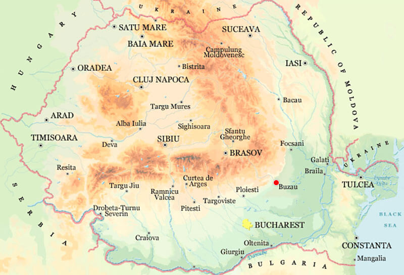 Harta Buzau Strazi Harta Romaniei