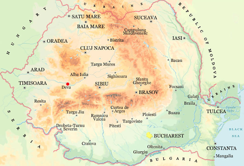 Harta Deva Strazi Harta Romaniei