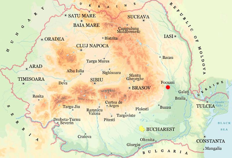 Harta Focsani Strazi Harta Romaniei