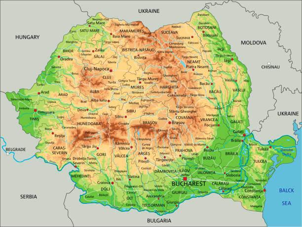 Harta Geografica A Romaniei Harta Judete Romania