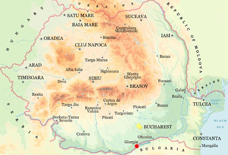 Harta Giurgiu Strazi Harta Romaniei