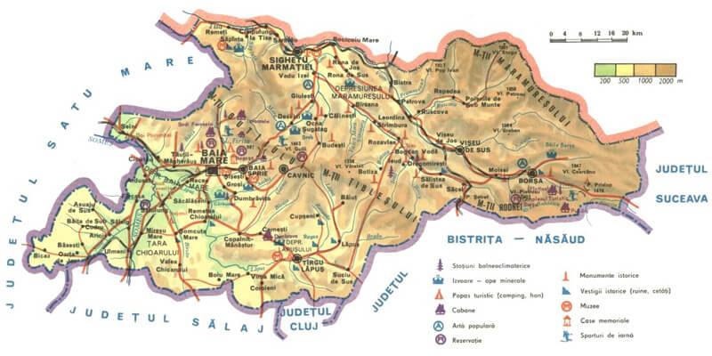Harta Maramures Ghid Harta Romaniei