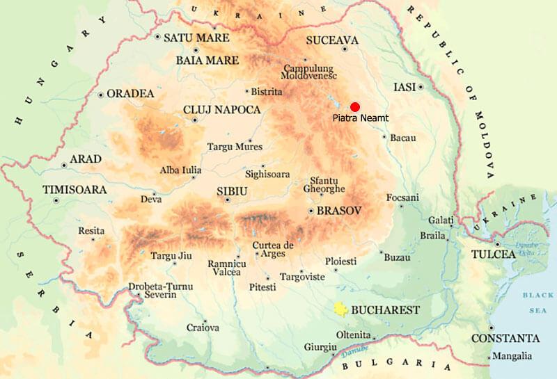 Harta Piatra Neamt Strazi Harta Romaniei
