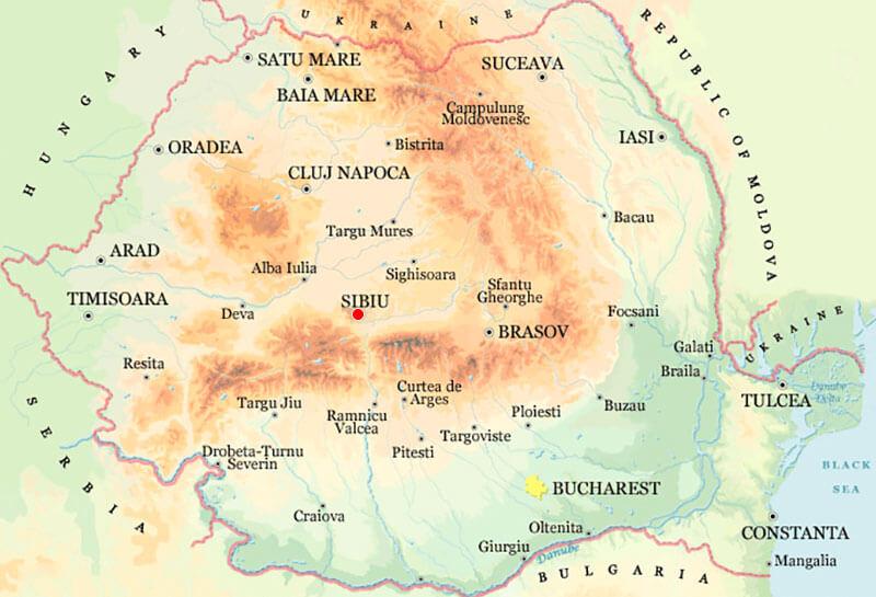 Harta Sibiu Strazi Harta Romaniei