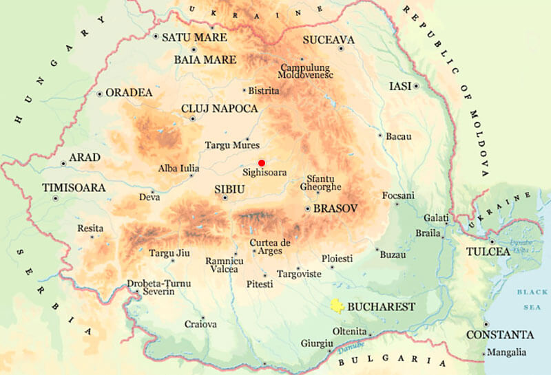Harta Sighisoara Strazi Harta Romaniei
