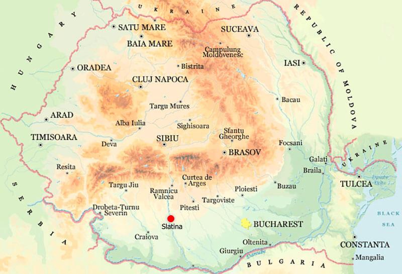 Harta Slatina Strazi Harta Romaniei