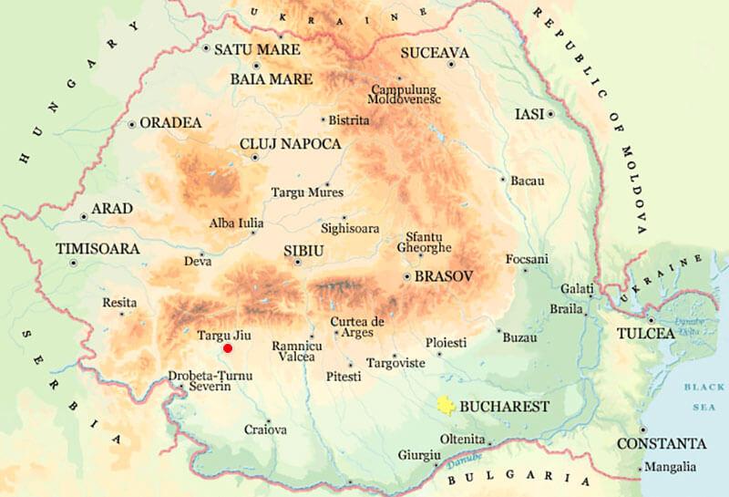 Harta Targu Jiu Strazi Harta Romaniei
