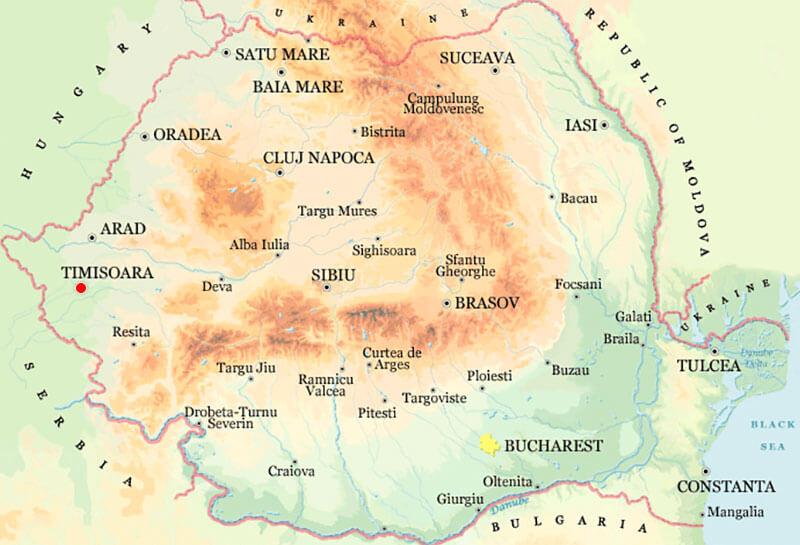 Harta Timisoara Strazi Harta Romaniei